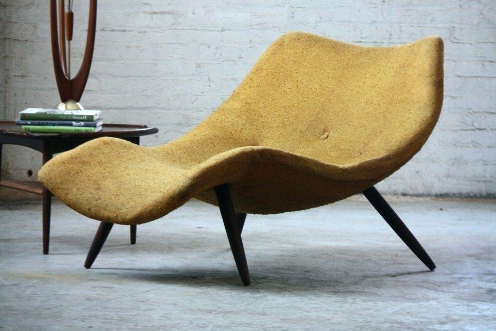 Most Popular Mid Century Modern Chaise Lounges In Mid Century Modern Chaise Lounge Chairs Rockers A Chaise Lounges (View 15 of 15)