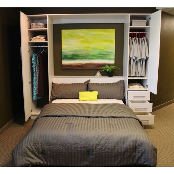 Most Popular Murphy Bed With Wardrobe For Wall Contemporary Detroit With Bed And Wardrobes Combination (View 13 of 15)