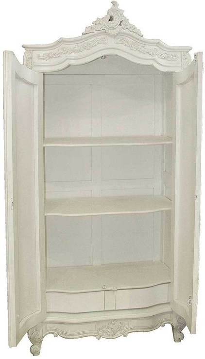 Most Popular Provencal Classic White French Wardrobe Armoire (View 7 of 15)