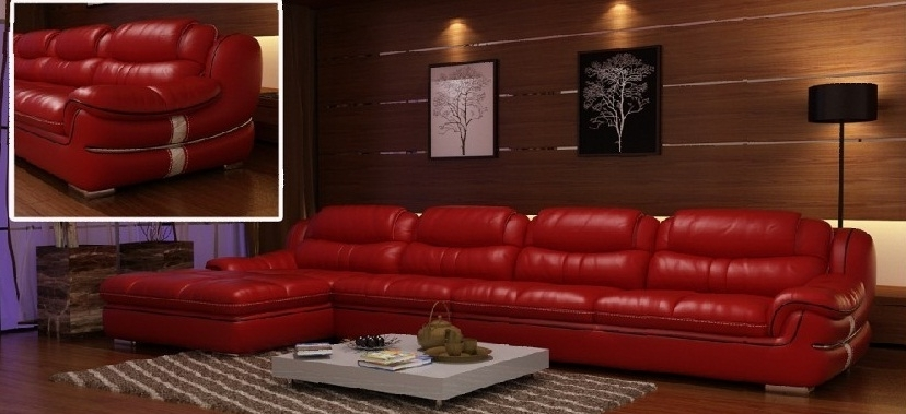 Most Popular Red Leather Couches For Living Room Throughout Red Leather Couch Living Room Ideas – Khabars (View 4 of 10)