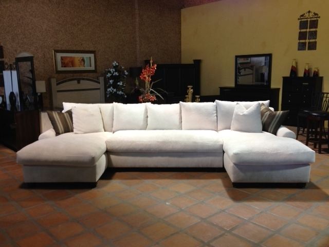 Most Popular Sectional Chaises With Bradly Double Chaise Feather Down Sectional (View 11 of 15)