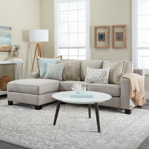 Most Popular Sectional Sofa With Chaise In Light Grey – Free Shipping Today With Regard To Grey Chaise Sectionals (View 8 of 15)