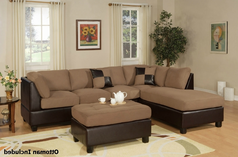 Most Popular Sectional Sofas With Ottoman For Brown Leather Sectional Sofa And Ottoman – Steal A Sofa Furniture (View 2 of 10)