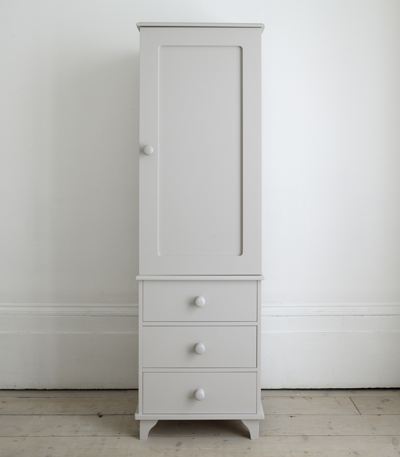 Featured Photo of Single White Wardrobes With Drawers