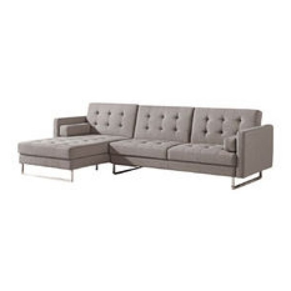 Most Popular Sleek Sectional Sofas For Sectional Sofas : Sleek Sectional Sofas – U133 Grey Chenille (View 2 of 10)