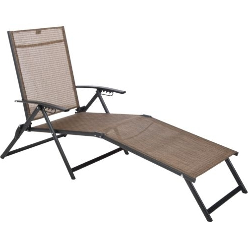 Most Popular Sling Chaise Lounge Chairs For Outdoor Inside Mosaic Folding Sling Chaise Lounge (View 8 of 15)