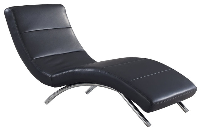 Most Popular Some Various Wonderful Designs Leather Chaise Lounge Chair With Regard To Black Leather Chaises (View 11 of 15)