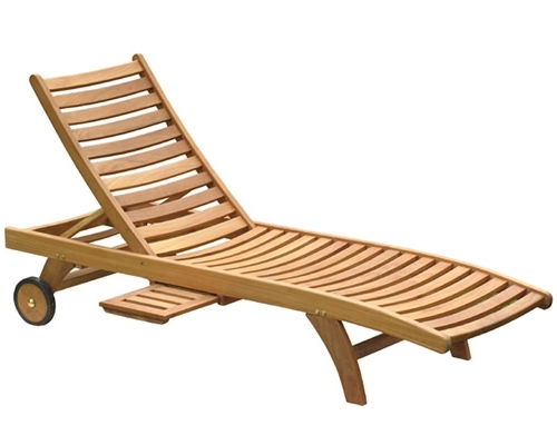 Most Popular Teak Chaises & Teak Loungers : Teak Outdoor Furniture From Benchsmith Intended For Teak Chaise Lounges (View 7 of 15)