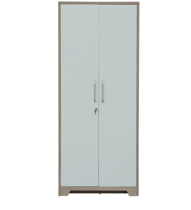 Most Popular Two Door White Wardrobes Inside Buy Ambra Two Door Wardrobe In White & Larch Colourhometown (View 4 of 15)