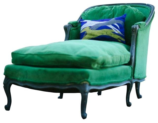 Most Popular Vintage Chaise Lounge Chair Vintage Chaise Lounge Vintage Chaise Inside Green Chaise Lounge Chairs (View 11 of 15)