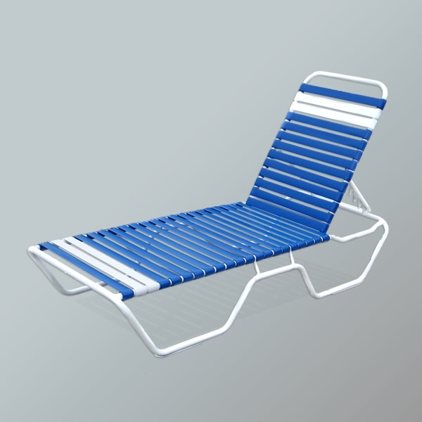 Most Popular Vinyl Strap Patio Chaise Lounges, Pool Lounge Chairs, Commercial With Regard To Vinyl Chaise Lounge Chairs (View 5 of 15)