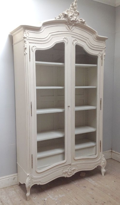 Most Popular White Antique Wardrobes Pertaining To Beautiful Rococo French Armoire / Antique C (View 8 of 15)