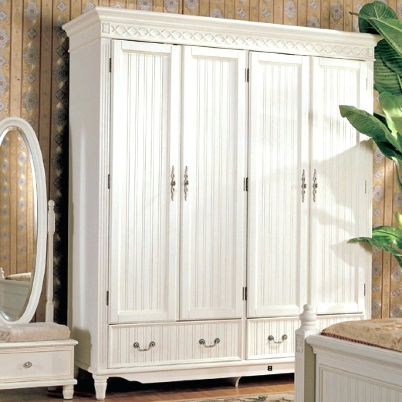 Most Popular White Wood Wardrobes Pertaining To Wardrobes ~ Wooden White Wardrobe Wood Furniture Manufacturers (View 6 of 15)