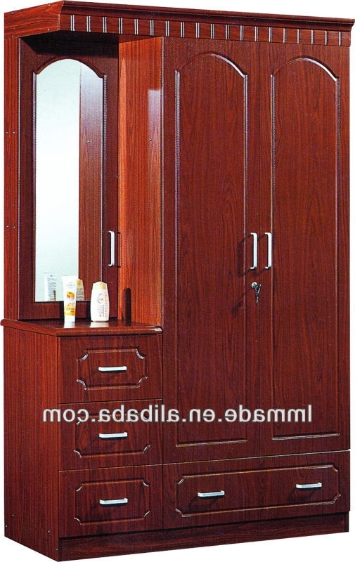 Most Popular Wooden Three Doors Mirror Door Cheap Wardrobe Closet – Buy With Cheap Wood Wardrobes (View 11 of 15)