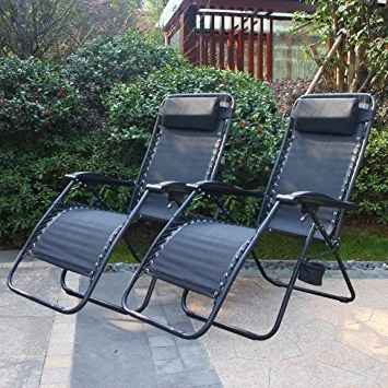 Most Recent Adjustable Pool Chaise Lounge Chair Recliners Pertaining To Amazon : Cloud Mountain Zero Gravity Patio Lounge Chairs Case (View 12 of 15)