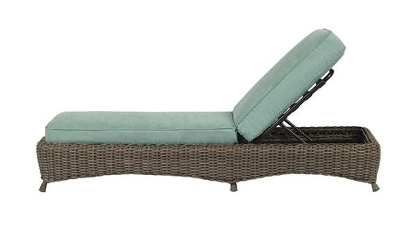 Most Recent Amazon: Martha Stewart Lake Adela Weathered Gray Patio Chaise With Martha Stewart Outdoor Chaise Lounge Chairs (View 11 of 15)