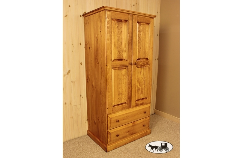 Most Recent Amish & Adirondack Real Wood Wardrobes: New York For Pine Wardrobes (View 4 of 15)