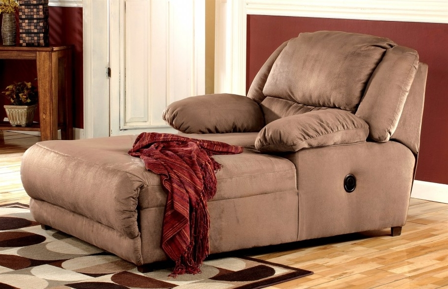 Most Recent Ashley Chaise Lounges Inside Apartments Stunning Hogan Mocha 2 Arm Pressback Chaise Ashley (View 13 of 15)