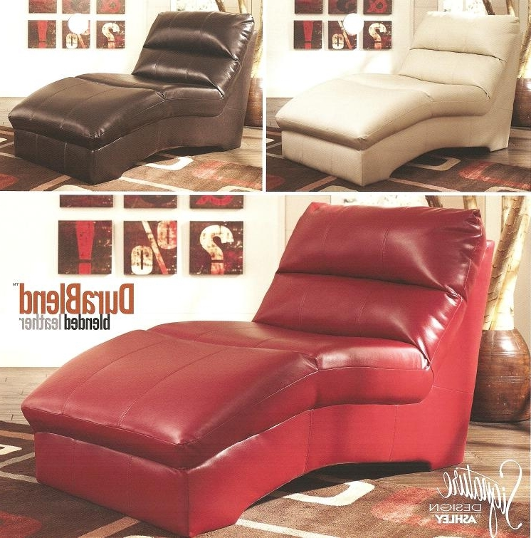 Most Recent Ashley Furniture 927Xx Blended Leather Chaise Lounge (View 12 of 15)