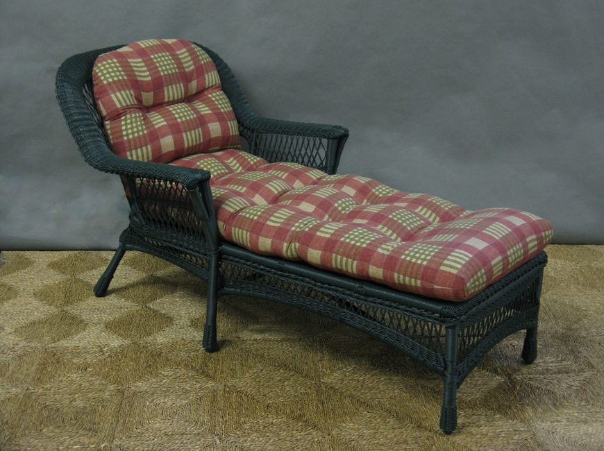 Most Recent Chaise Lounge Cushion Set, All About Wicker Inside Outdoor Wicker Chaise Lounges (View 13 of 15)