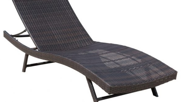 Most Recent Chaise Lounges Outdoor Awesome Excellent Eliana Brown Wicker In Black Chaise Lounge Outdoor Chairs (View 8 of 15)