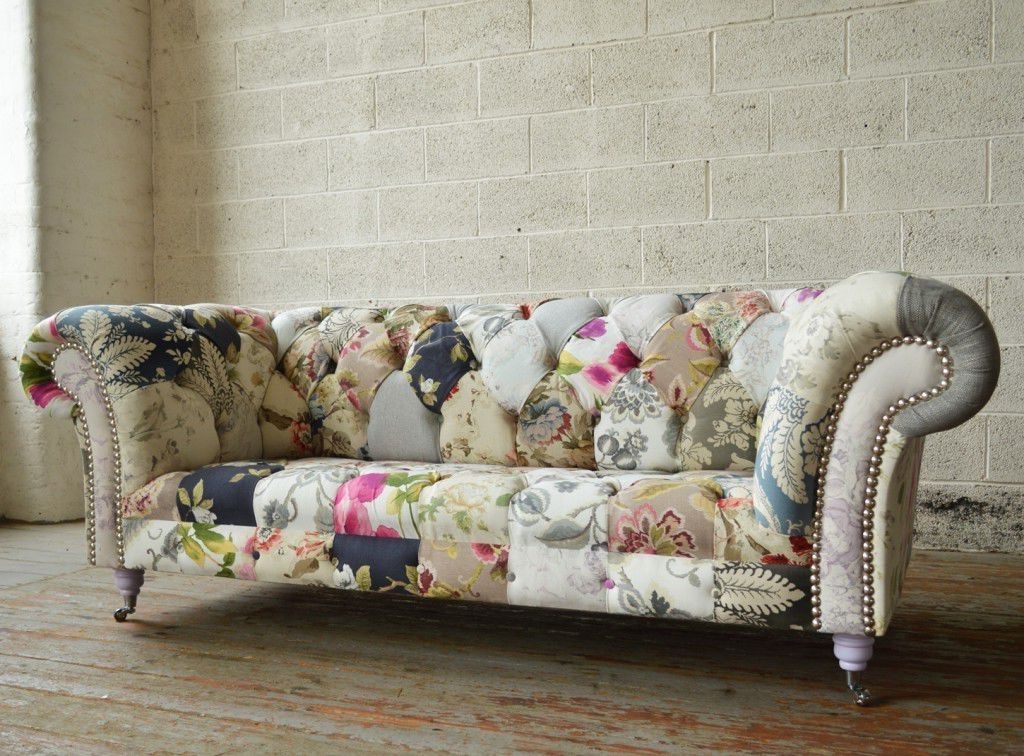 Most Recent Chesterfield Sofa / Fabric / 2 Seater / 3 Seater – Grace – Abode Sofas Within Chintz Fabric Sofas (View 9 of 10)