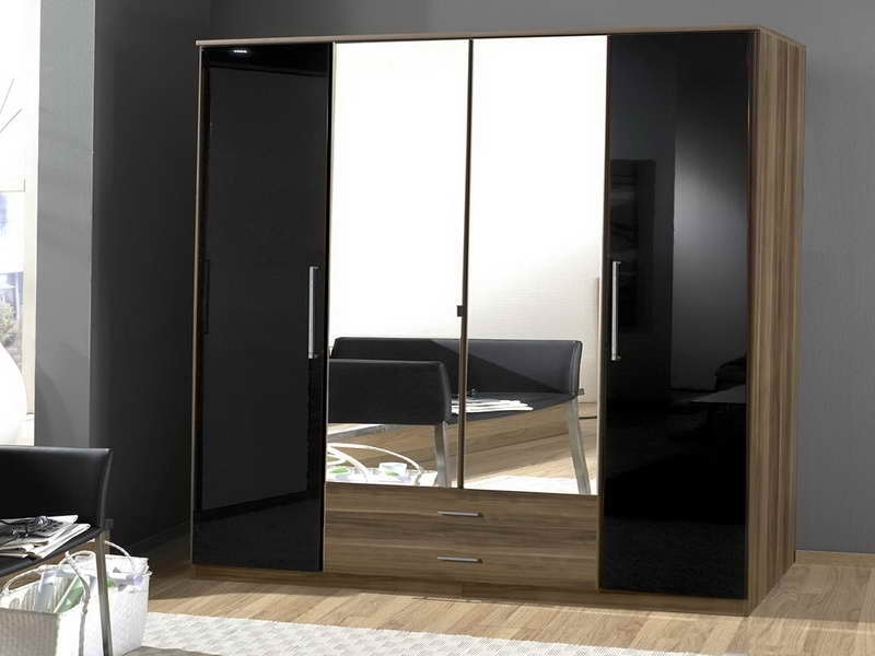 Most Recent Double Wardrobes With Mirror With Sliding Mirror Wardrobes Doors – Handballtunisie (View 7 of 15)