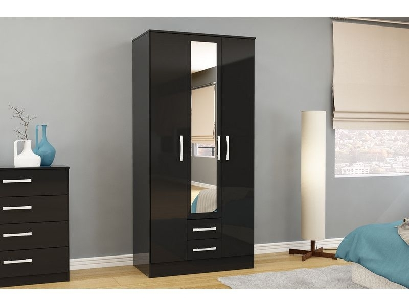 Most Recent Fabulous Black Wardrobe With Drawers (View 12 of 15)
