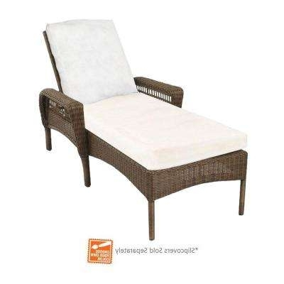 Most Recent Gray – Outdoor Chaise Lounges – Patio Chairs – The Home Depot Inside Grey Wicker Chaise Lounge Chairs (View 10 of 15)