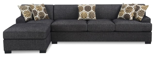 Most Recent Grey Sectional Sofa With Chaise (View 14 of 15)