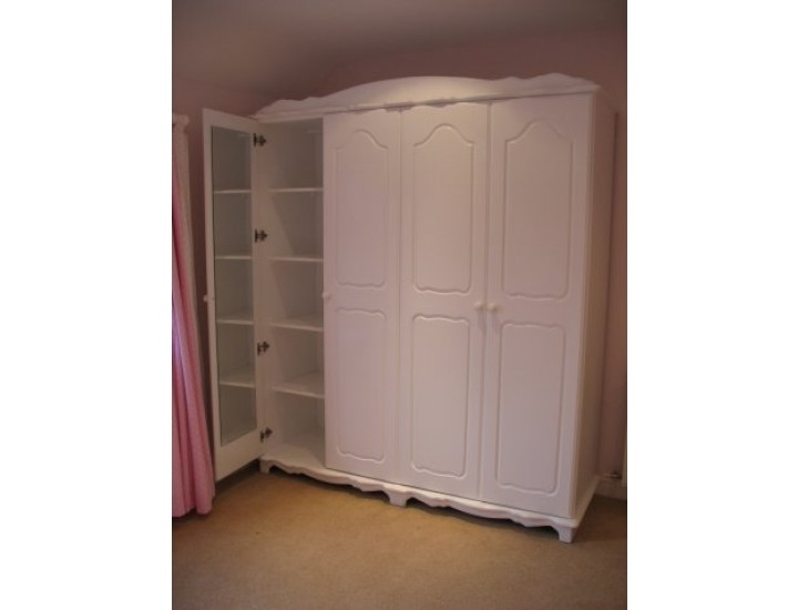 Most Recent Hand Made Bespoke Personalised Childrens 4 Door Wardrobes Made In For 4 Door White Wardrobes (View 11 of 15)