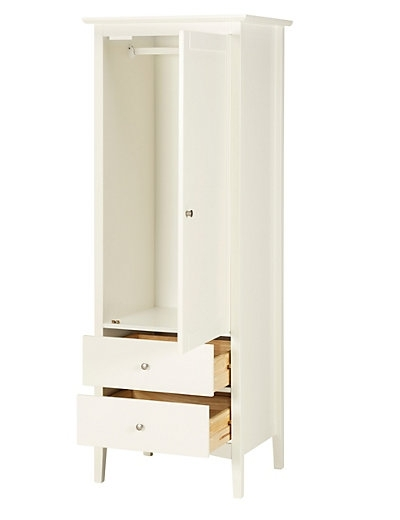 Most Recent Hastings Ivory Single Wardrobe (View 3 of 15)
