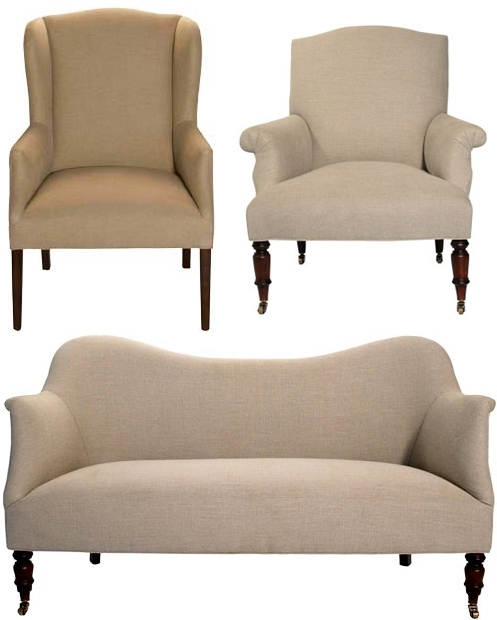 Most Recent John Derian: Upholstered Chairs : Katy Elliott With Sofa With Chairs (View 7 of 10)
