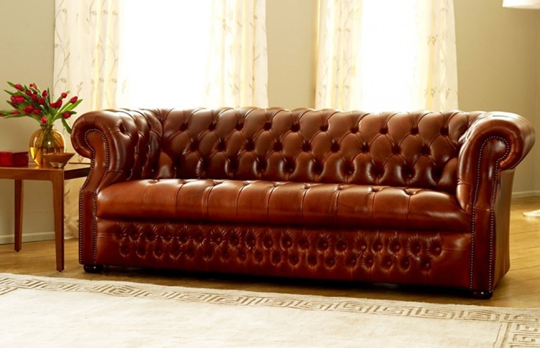 Most Recent Leather Chesterfield Sofas With Regard To Stunning Brown Leather Chesterfield Sofa The Chesterfield Co (View 5 of 10)