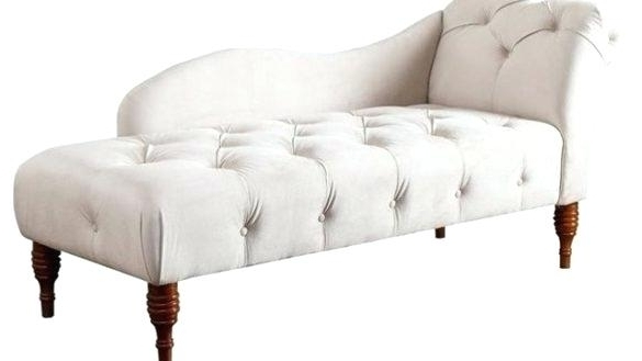 Most Recent Lounge Chaise Indoor Elegant Tufted Velvet Chaise Lounge Ivory Pertaining To Tufted Chaise Lounge Chairs (View 8 of 15)