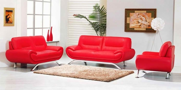 Most Recent Red Leather Couches For Living Room Regarding 20 Ravishing Red Leather Living Room Furniture (View 5 of 10)