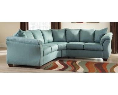 Most Recent Sam Levitz Sectional Sofas With Regard To Contemporary Plush 2 Pc Sectional – Light Blue – Sam Levitz (View 5 of 10)
