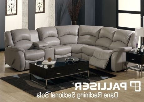 Most Recent Sectional Sofas With Electric Recliners Inside Wall Hugger Reclining Sectional Sofa Groups (View 3 of 10)