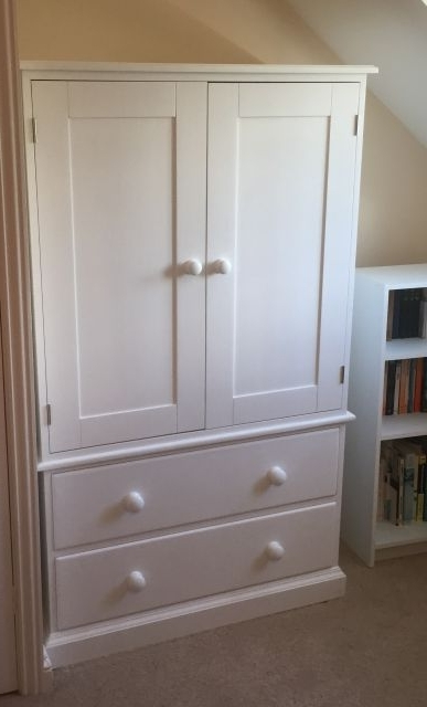 Most Recent Short Wardrobes Intended For Gillerson Pine Made To Measure Pine And Painted 2 Drawer Short (View 6 of 15)