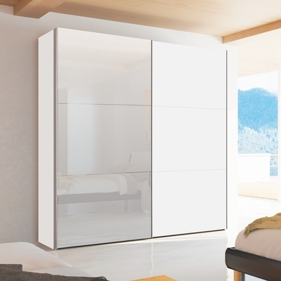 Most Recent Single White Wardrobes With Mirror In Mirror Design Ideas: Expensive Wood 2 Door Sliding Wardrobe (View 14 of 15)