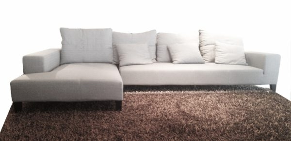 Most Recent Sleek Sectional Sofas Pertaining To Sectional Sofas : Sleek Sectional Sofas – U133 Grey Chenille (View 4 of 10)