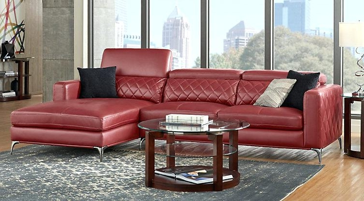 Most Recent Small Leather Sectional Sofa Small Red Leather Sectional Sofa For Small Red Leather Sectional Sofas (View 3 of 10)