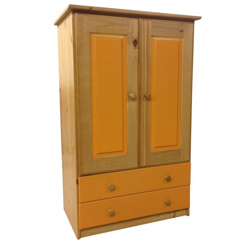 Most Recent Tall Boy Childrens 2 Door 2 Drawer Antique Wardrobe (View 14 of 15)