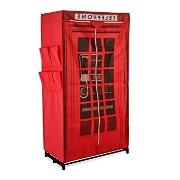 Most Recent Telephone Box Wardrobes Intended For Fabric Wardrobe British Telephone Box, Approx (View 15 of 15)