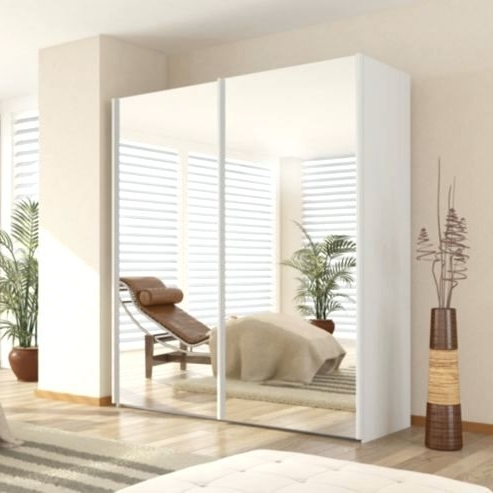 Most Recent Wardrobes ~ Jordan 3 Door 2 Drawer Sliding Mirrored Wardrobe In Intended For White 3 Door Mirrored Wardrobes (View 12 of 15)