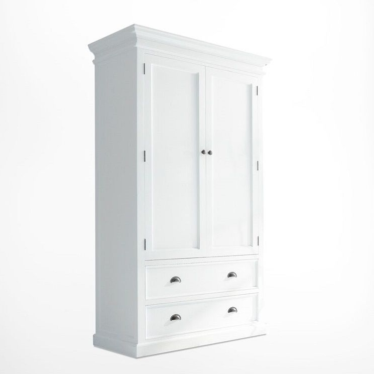 Most Recent White Double Wardrobe With Drawers Inside White Double Wardrobes (View 7 of 15)