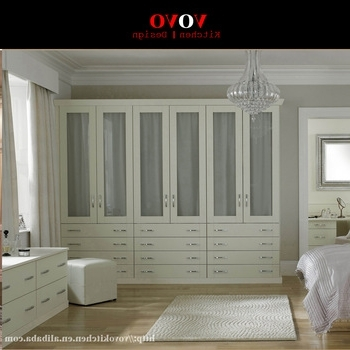 Most Recent White Wood Wardrobe With Glass Door Design – Buy Wood Wardrobe Pertaining To White Wood Wardrobes (View 7 of 15)
