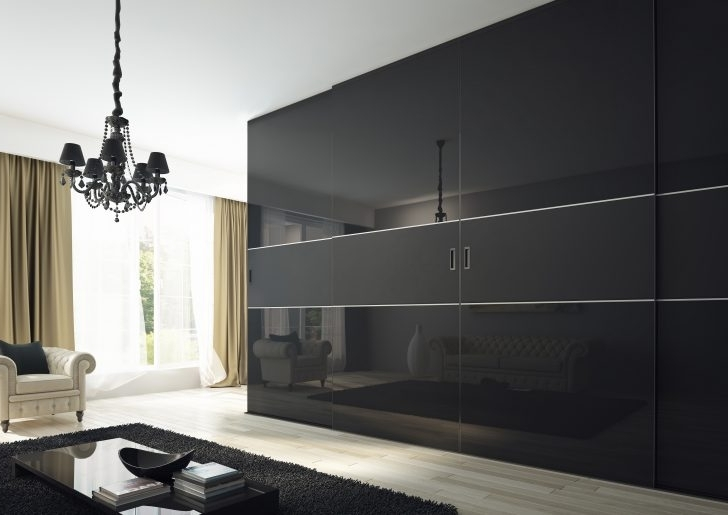 Most Recently Released Amazing Black Gloss Sliding Wardrobes – Buildsimplehome In Gloss Black Wardrobes (View 7 of 15)