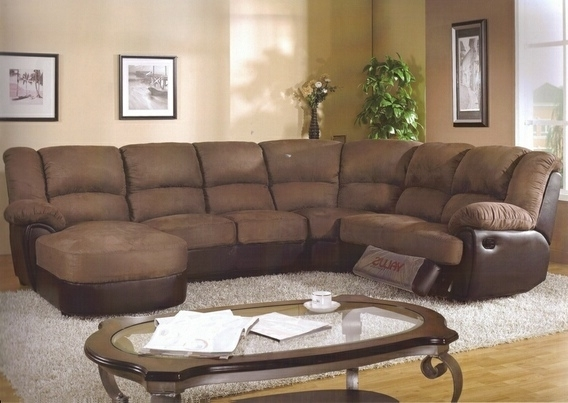 Most Recently Released Amazing Of Chaise Lounge Sectional Sectional With Chaise And Pertaining To Sectional Sofas With Recliners And Chaise (View 3 of 15)