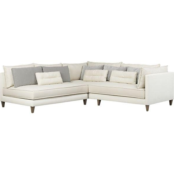Most Recently Released Armless Sectional Sofas Intended For 2 Piece Armless Sectional Sofa (View 8 of 10)